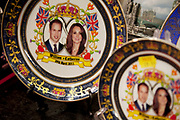 Souvenirs for the Royal Wedding of Prince William and Catherine Middleton. Also known as Kate Middleton, on marrying the heir to the throne on 29th April 2011, she will become Princess. This type of Royal event always results in cheap souvenir production, including plates, mugs, pens, glassware, t-shirts, tea towels and even ash trays.