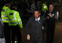 Celtic manager Brendan Rodgers arrives for the UEFA Champions League match at Celtic Park, Glasgow.