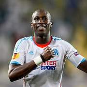 Marseille's Rod Fanni celebrates his goal during their UEFA Europa League Group Stage Group C soccer match Fenerbahce between Marseille at Sukru Saracaoglu stadium in Istanbul Turkey on Thursday 20 September 2012. Photo by TURKPIX