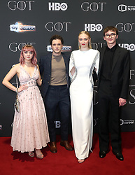 Maisie Williams, Kit Harington, Sophie Turner, and Isaac Hempstead Wright attending the Game of Thrones Premiere, held at Waterfront Hall, Belfast.