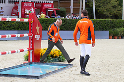 Ehrens Rob, NED, Chef d'Equipe, Van Asten Leopold, NED<br /> Longines FEI Jumping Nations Cup™ Final<br /> Barcelona 20128<br /> © Hippo Foto - Dirk Caremans<br /> 07/10/2018