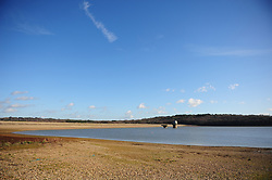 © Licensed to London News Pictures.19/01/2018<br /> Lamberhurst, UK.<br /> BEWL WATER RESERVOIR drought weather.<br /> Southern Water have been granted a drought permit to fill up Bewl Water reservoir in Lamberhurst although in many parts of the UK its been a wet few months, The Environment Agency has given permission due to exceptionally low water levels.<br /> Photo credit: Grant Falvey/LNP