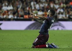 May 9, 2019 - Valencia, Valencia, Spain - Lcazzete of Arsenal celebrating a goal during UEFA Europa League football match, between Valencia and Arsenal, May 09th, in Mestalla stadium in Valencia, Spain. (Credit Image: © AFP7 via ZUMA Wire)