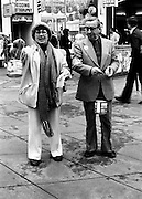 Maureen Potter and Danny Cummins, collecting for Concern.<br /> 08/12/1977