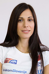 Marija Sestak at press conference of Slovenian team before departure to Indoor Athletics World Championship in Istanbul, on March 7, 2012 in Ljubljana, Slovenia.  (Photo By Vid Ponikvar / Sportida.com)