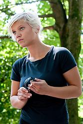Singer Katja Koren at Mercator izziv, on August 19, 2011, on Ljubljanski grad, Ljubljana, Slovenia (Photo by Matic Klansek Velej / Sportida)