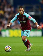 Chicharito of West Ham United in action. Premier league match, West Bromwich Albion v West Ham United at the Hawthorns stadium in West Bromwich, Midlands on Saturday 16th September 2017. pic by Bradley Collyer, Andrew Orchard sports photography.