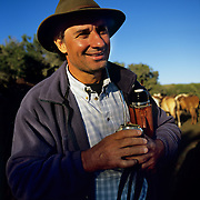 South America, Uruguay, Florida, An authentic gaucho on a working ranch with his ever-present mate.