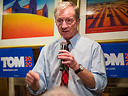 13 JANUARY 2020 - WEST DES MOINES, IOWA: at a house party in West Des Moines Monday night to address the issue of climate change, which Steyer has said is his top priority. Steyer, a California businessman, is campaigning to be the Democratic nominee for the US Presidency in 2020. Iowa holds the first selection event of the 2020 election cycle. The Iowa Caucuses are Feb. 3, 2020.                PHOTO BY JACK KURTZ