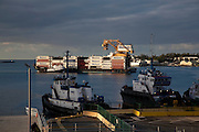 Matson container ship, Honolulu harbor, Oahu, Hawaii
