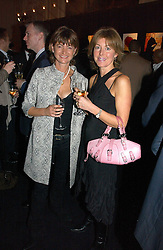Left to right, SARAH ATKINSON-CLARK and shirt designer EMMA WILLIS at a party hosted by Ruinart Champagne at Claridges, Brook Street, London on 18th October 2006.<br /><br />NON EXCLUSIVE - WORLD RIGHTS