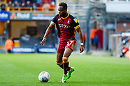 Bradford City midfielder Sherwin Seedorf (17) on loan from Wolverhampton Wanderers, in action  during the EFL Sky Bet League 1 match between Bradford City and Sunderland at the Northern Commercials Stadium, Bradford, England on 6 October 2018.