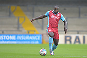 Olufela Olomola (24) of Scunthorpe United during the Pre-Season Friendly match between Scunthorpe United and Doncaster Rovers at Glanford Park, Scunthorpe, England on 15 August 2020.