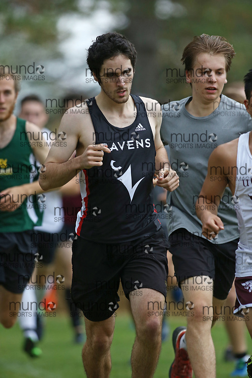 (Ottawa, Canada---14 October 2017)  Carleton University Ravens athletes racing in the Jim Howe Memorial XC Race at the Capital Challenge Cross Country Race in Ottawa, Canada. (Photo by Sean Burges / Mundo Sport Images)
