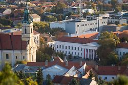 October 13, 2017 - Szekszard, Hungary - Landscape of the Szekszard (143 kms south of Budapest) where the meeting of heads of state of the Visegrad Group (V4) countries takes place. Szekszard, Hungary on 13 October 2017. (Credit Image: © Mateusz Wlodarczyk/NurPhoto via ZUMA Press)