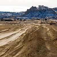 122412       Brian Leddy<br /> The land parallel to Highway 491 is being prepared to lay the piping for the Navajo-Gallup Pipeline Project.