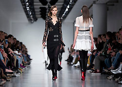 Models on the catwalk during the David Koma Autumn/Winter 2017 London Fashion Week show at the BFC Space Show, London. PRESS ASSOCIATION. Picture date: Sunday February 19, 2017. Photo credit should read: Isabel Infantes/PA Wire
