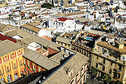 Spain, Seville, elevated cityscape from the Cathedral belltower