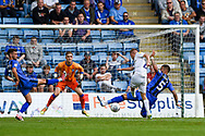 Coventry City midfielder Luke Thomas (23) has a shot during the EFL Sky Bet League 1 match between Gillingham and Coventry City at the MEMS Priestfield Stadium, Gillingham, England on 25 August 2018.
