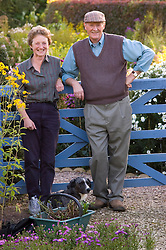 Paul and Meriel Picton at Old Court Nurseries