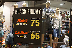 November 21, 2018 - Sao Paulo, Sao Paulo, Brazil - Commerce prepares for Black Friday, this Wednesday 21 November 2018, in Sao Paulo, Brazil. Black Friday happens next Friday. (Credit Image: © Cris Faga/NurPhoto via ZUMA Press)