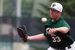 28 April 2012:  Nick Mehn during an NCAA division 3 Baseball game between the Augustana Vikings and the Illinois Wesleyan Titans in Jack Horenberger Stadium, Bloomington IL