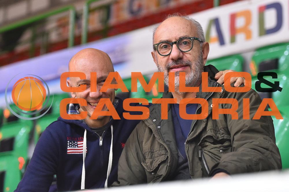 Stefano Sardara, Virginio Bernardi<br /> Primo Allenamento Coach Gianmarco Pozzecco<br /> Banco di Sardegna Dinamo Sassari<br /> LBA Serie A Postemobile 2018-2019<br /> Sassari, 12/02/2019<br /> Foto L.Canu / Ciamillo-Castoria
