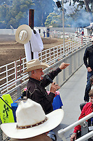Blue skies met the end of Sunday morning's cowboy church service, led by Coy Huffman, on the last day of the 2013 California Rodeo Salinas.