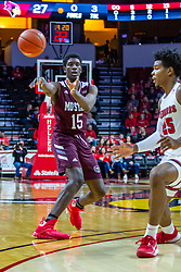 NORMAL, IL - January 07: Lamont West defended by Jaycee Hillsman during a college basketball game between the ISU Redbirds and the University of Missouri State Bears on January 07 2020 at Redbird Arena in Normal, IL. (Photo by Alan Look)
