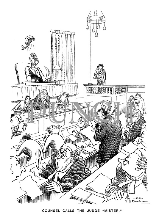 """Counsel Calls the Judge """"Mister""""."""