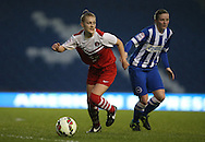 Charlton Athletic Ladies player Ellie Baxter during the FA Women's Premier League match between Brighton Ladies and Charlton Athletic WFC at the American Express Community Stadium, Brighton and Hove, England on 6 December 2015.