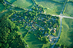 GERMANY SCHLESWIG-HOLSTEIN KIEL 9JUN02 - A village seen from above - at an altitude of 500 feet...jre/Photo by Jiri Rezac..© Jiri Rezac 2002..Contact: +44 (0) 7050 110 417..Mobile:  +44 (0) 7801 337 683.Office:  +44 (0) 20 8968 9635..Email:   jiri@jirirezac.com.Web:     www.jirirezac.com