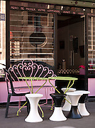 A cafe terrace by the Canal Saint Martin, Paris, France