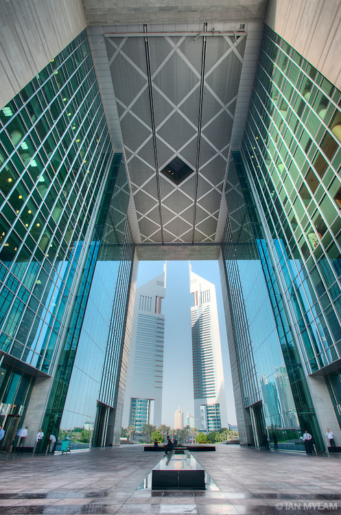 The DIFC and Emirates Towers - Dubai, U.A.E.