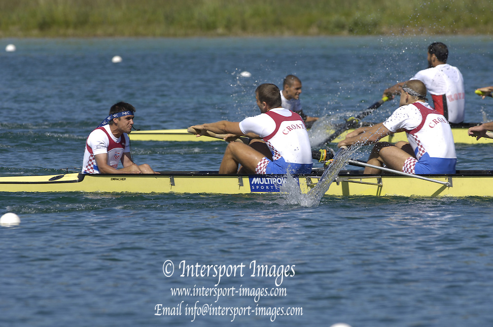 2005 FISA Rowing World Cup Munich,GERMANY. 19.06.2005; B Finalist M8+.Photo  Peter Spurrier. .email images@intersport-images.[Mandatory Credit Peter Spurrier/ Intersport Images] Rowing Course, Olympic Regatta Rowing Course, Munich, GERMANY