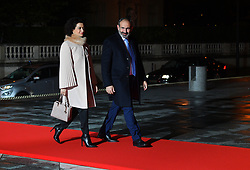 Armenia's Prime Minister Pachinian arriving on eve of the commemoration of the Centenary of Armistice Day 1918 for a State Dinner in Musee d'Orsay, Paris, France on November 10th,2018. Photo by Christian Liewig/ABACAPRESS.COM