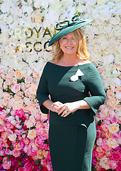 Kirsty Young arriving for day three of Royal Ascot at Ascot Racecourse.