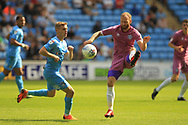 Matty Done brings the ball under control during the EFL Sky Bet League 1 match between Coventry City and Rochdale at the Ricoh Arena, Coventry, England on 1 September 2018.