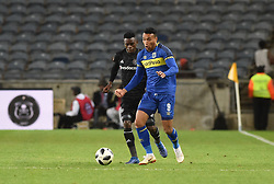 South Africa: Johannesburg: Orlando Pirates Innocent Maela and Cape Town City Matthew Rasike during the Premier Soccer League (PSL) at Orlando Stadium in Soweto, Gauteng.<br />19.09.2018<br />Picture: Itumeleng English/African News Agency (ANA)