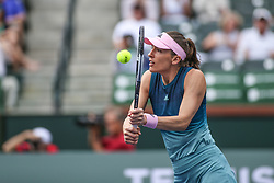 March 7, 2019 - Indian Wells, CA, U.S. - INDIAN WELLS, CA - MARCH 07: Andrea Petkovic (GER) hits a volley during the BNP Paribas Open on March 7, 2019 at Indian Wells Tennis Garden in Indian Wells, CA. (Photo by George Walker/Icon Sportswire) (Credit Image: © George Walker/Icon SMI via ZUMA Press)