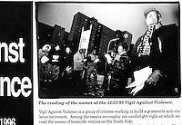Vigil Against Violence Promotion Chicago - 1995