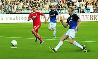 Fotball Herrer UEFA Europa League 2013<br /> Marienlyst Stadion Gamle Gress  18.07.2013<br /> <br /> Strømsgodset vs Debrecen<br /> <br /> Resultat 2 - 2<br /> <br /> Foto: Robert Christensen Digitalsport<br /> <br /> Strømsgodset Peter Kovacs redder Ungarns ære med utlikning på overtid