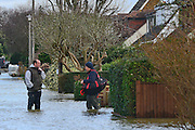 © Licensed to London News Pictures. 09/02/2014. Wraysbury, UK Flooding in Wraysbury in Berkshire today 9th February 2014 after the River Thames burst its banks. Photo credit : Stephen Simpson/LNP