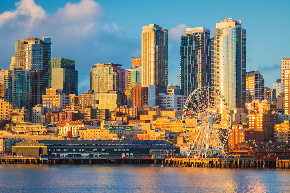 """Seattle is a major coastal seaport and the seat of King County, in the U.S. state of Washington. With 620,778 residents as estimated in 2011, Seattle is the largest city in the Pacific Northwest region of North America and the largest city on the West Coast north of San Francisco. The Seattle metropolitan area of around 4 million inhabitants is the 15th largest metropolitan area in the United States. The city is situated on a narrow isthmus between Puget Sound (an arm of the Pacific Ocean) and Lake Washington, about 100 miles (160 km) south of the Canada-United States border, but further north than Toronto. <br /> The Seattle area had been inhabited by Native Americans for at least 4,000 years before the first permanent white settlers. Arthur A. Denny and his group of travelers, subsequently known as the Denny Party, arrived at Alki Point on November 13, 1851. The settlement was moved to its current site and named """"Seattle"""" in 1853, after Chief Si'ahl of the local Duwamish and Suquamish tribes."""