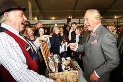 The Prince of Wales meets exhibitors during his visit to the Westmorland County Show in Milnthorpe, Cumbria.
