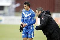 Fotball ,9. april 2012 , Adeccoligaen , 1. divisjon , Sarpsborg - Start 4-4<br /> trener Roar Johansen og Mohamed Elyounoussi , Sarpsborg