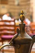 Arabic coffee urn at Khan Murjan restaurant, United Arab Emirates