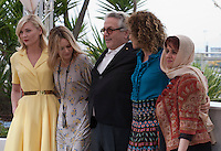 Actress Kirsten Dunst, Actress and Singer Vanessa Paradis, Director George Miller, Director Valeria Golino and Producer Katayoon Shahabi at the Members of the Jury photo call at the 69th Cannes Film Festival Wednesday 11th May 2016, Cannes, France. Photography: Doreen Kennedy