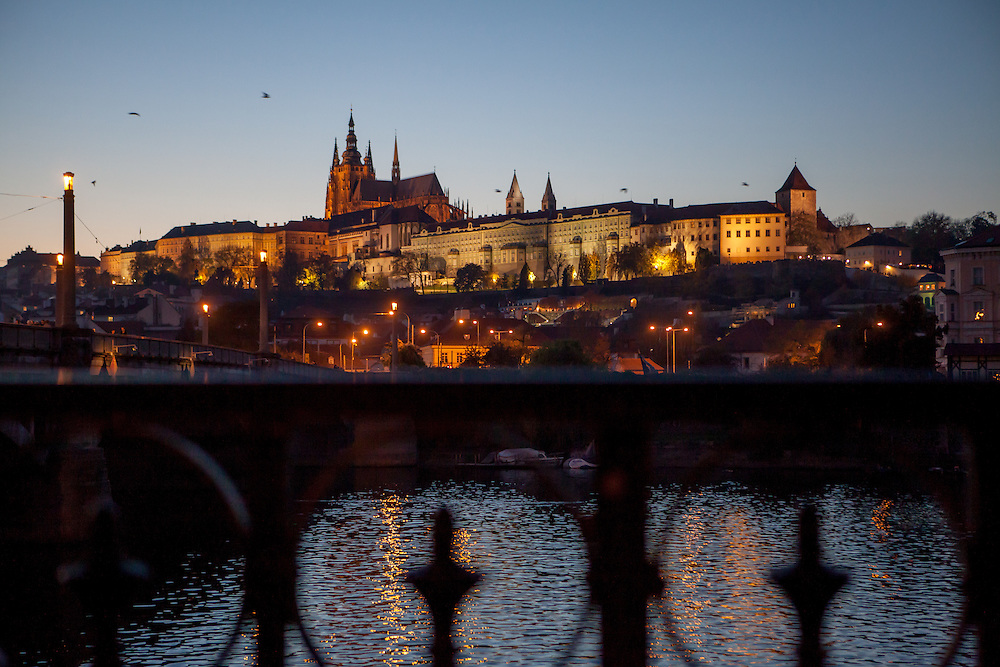 Prague Castle and the Lobkowicz Palace on the right side.