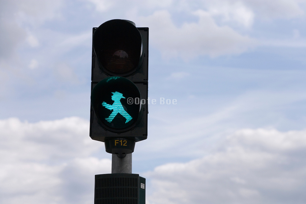 former East Berlin old style pedestrian traffic light
